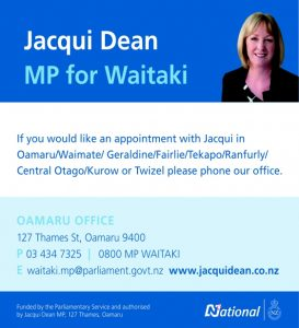 Oamaru Telegram Issue 337 Jacqui Dean MP for Waitaki