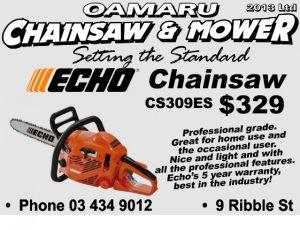 Oamaru Telegram Issue 337 Oamaru Chainsaw and Mower