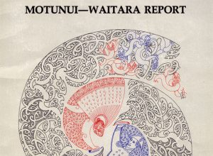 Cover of the first Waitangi Tribunal report (Waitangi Tribunal; artwork by Cliff Whiting)