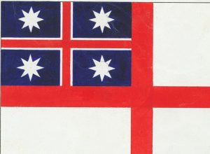 Version of the ensign of the United Tribes (Alexander Turnbull Library, MS-Papers-0009-09-01)