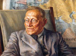 Painting of George von Zedlitz by Christopher Perkins, 1933 (Adam Art Gallery, VUW.1933.1V)