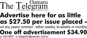 Oamaru Telegram 348 Advertise here advert