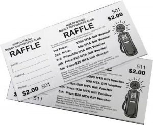 Black and White Printed Raffle Tickets