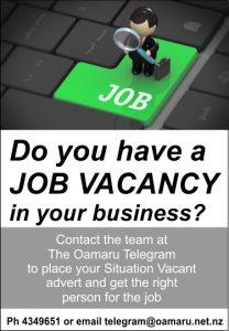 Oamaru Telegram Job Vacancy