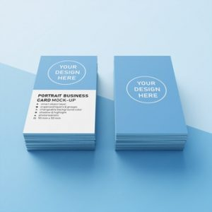 Double sided design and print your own business cards